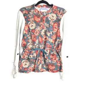 Anthro Saturday Sunday Zip Up Floral Jacket